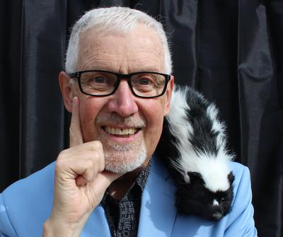 Sammy the skunk is a star of the show! Maviro, comedy, magician, Christian, fun show